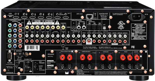 Pioneer Elite SC-35 A/V Receiver - Rear