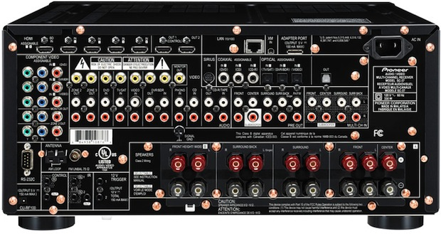 Pioneer Elite SC-37 A/V Receiver - Rear