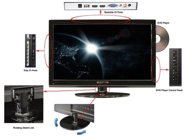 Sceptre E246BD-FHD - LED LCD HDTV DVD Player Combo - Info