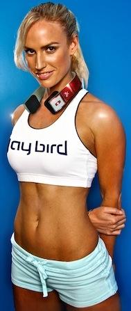 Wearing Jaybird SB2 Sportsband Bluetooth Headphones