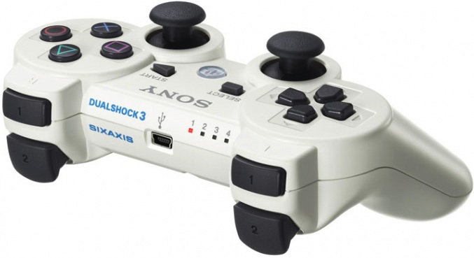 Sony PS3 DUALSHOCK3 Wireless Controller Classic White(CECH-ZC2JLW