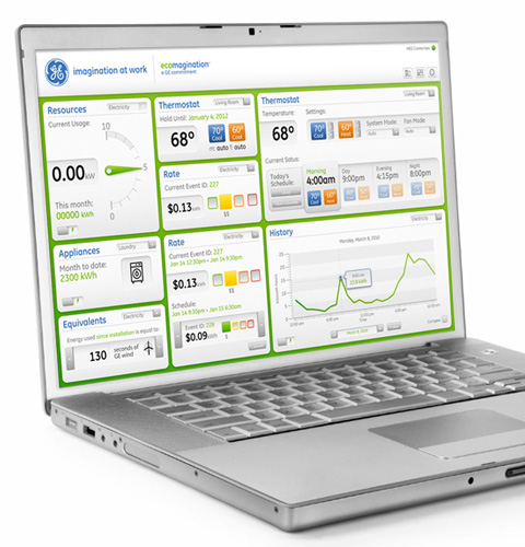 GE Nucleus Home Energy Monitor and Management System on a PC
