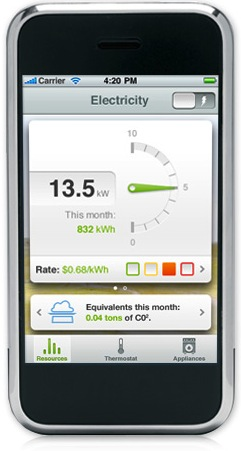 GE Nucleus Home Energy Monitor and Management System Controlled from iPhone