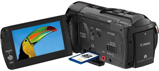 Canon VIXIA HF M32 Dual Flash Memory Camcorder - Open