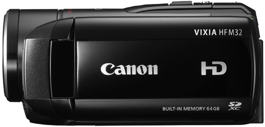 Canon VIXIA HF M32 Dual Flash Memory Camcorder - Side