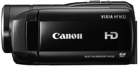 Canon VIXIA HF M32 Dual Flash Memory Camcorder - Side