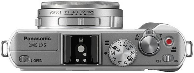 Panasonic DMC-LX5 Lumix Digital Camera - Top