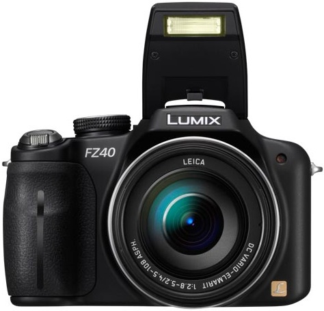 Panasonic DMC-FZ40 Lumix Digital Camera - Flash