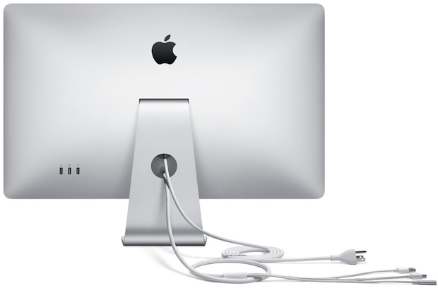 Apple 27-inch LED Cinema Display - Back