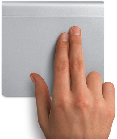 Apple Magic Trackpad with Hand