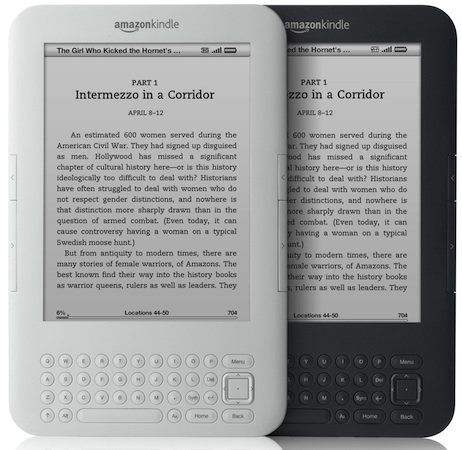 Amazon Kindle Graphite and White
