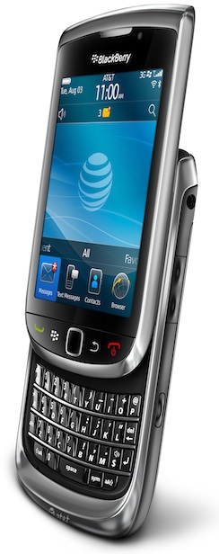 BlackBerry Torch 9800 Smartphone - Open