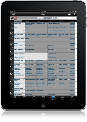 DISH Remote Access app for iPad