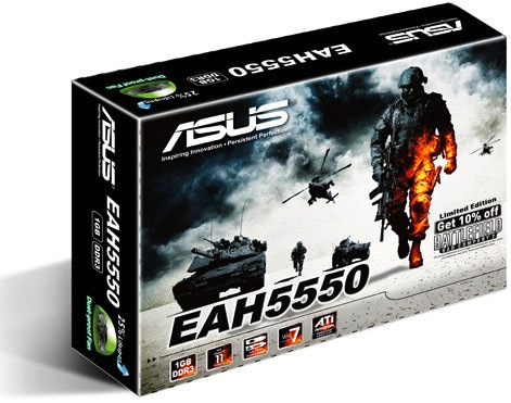 ASUS EAH5550 Limited Edition with Battlefield: Bad Company 2 Packaging