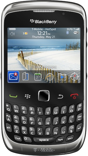 BlackBerry Curve 3G 9300 Smartphone graphite - front