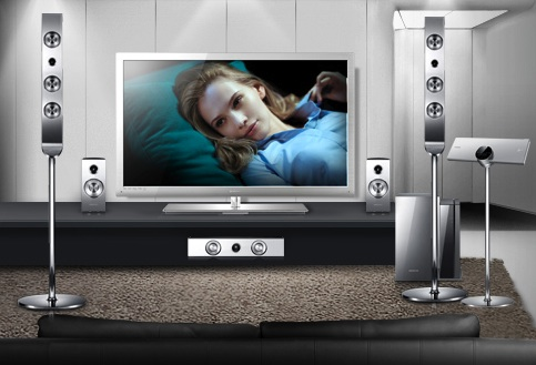 Samsung HT-C9950W 7.1 Blu-ray 3D Home Theater System in room