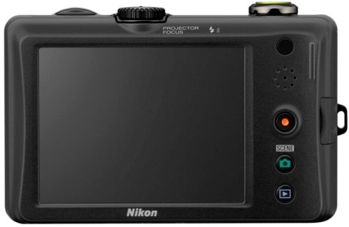 Nikon CoolPix S1100pj Digital Camera with Projector - Green - Back