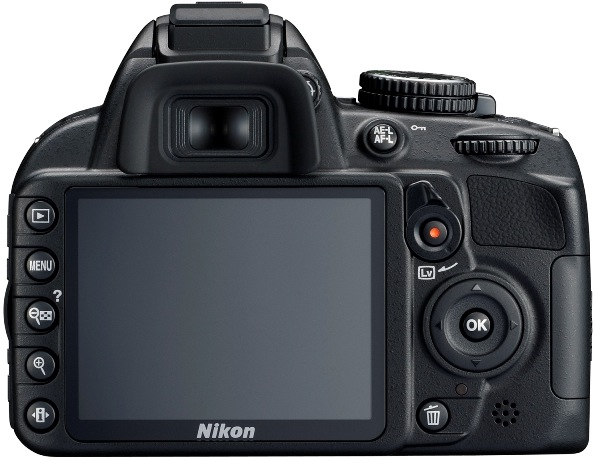 Nikon D3100 Digital SLR Camera - Back