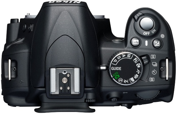 Nikon D3100 Digital SLR Camera - Top