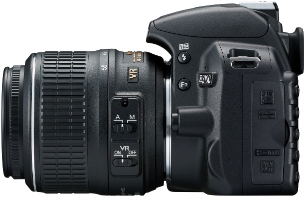 Nikon D3100 Digital SLR Camera - Left