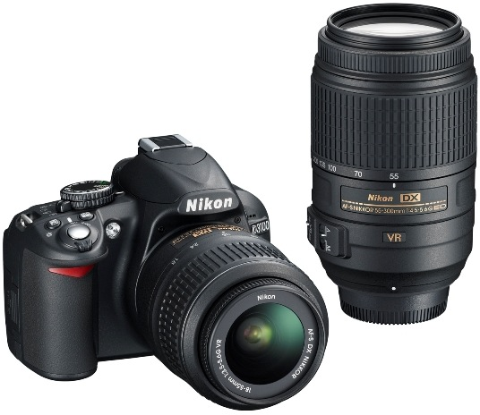 Nikon D3100 Digital SLR Camera and AF-S DX NIKKOR 55-300mm VR lens