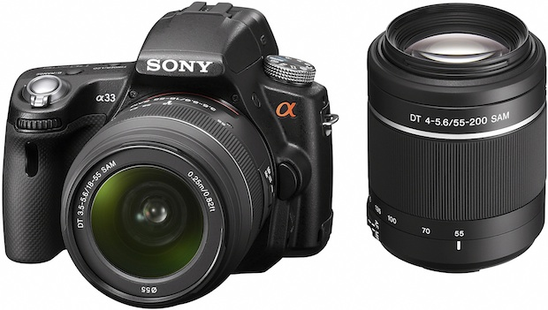 Sony SLT-A33 Alpha Digital SLR Camera and 18-55mm zoom lens