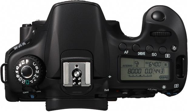 Canon EOS 60D Digital SLR Camera - Top Controls