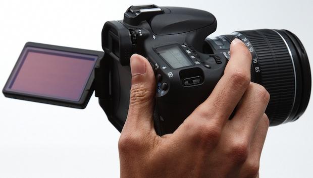 Canon EOS 60D Digital SLR Camera in Hand