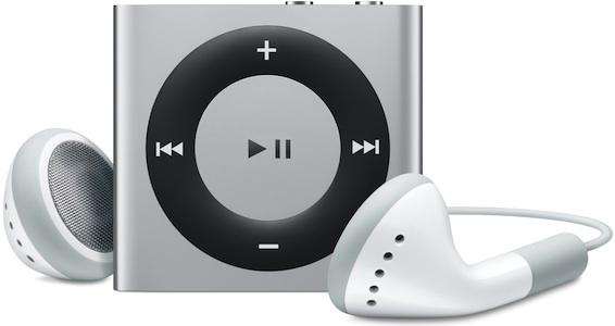Apple iPod shuffle with headphones