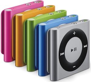Apple iPod shuffle colors