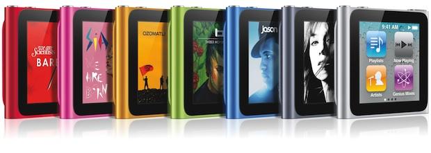 Apple iPod nano (2010) MP3 Player - colors