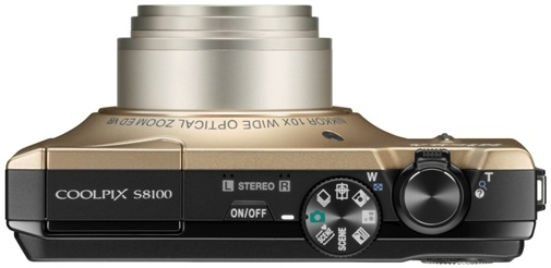 Nikon CoolPix S8100 Digital Camera - Top
