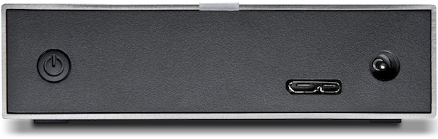 LaCie Minimus USB 3.0 1TB Desktop Hard Drive - Back