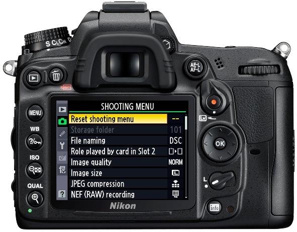 Nikon D7000 SLR Digital Camera - Back