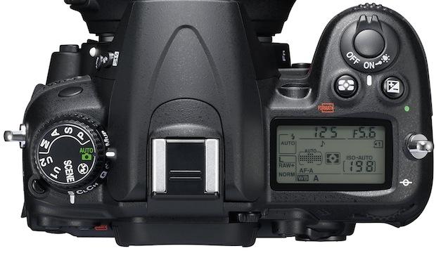 Nikon D7000 SLR Digital Camera - Top
