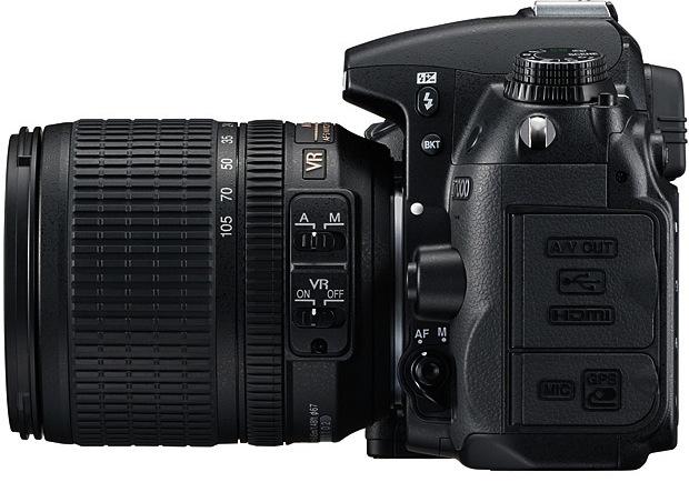 Nikon D7000 SLR Digital Camera - Side