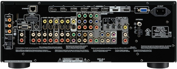 Integra DHC-40.2 THX Ultra 2 Plus Surround Preamplifier - Back