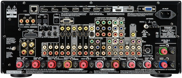 Integra DTR-70.2 THX Ultra2 Plus A/V Receiver - Back