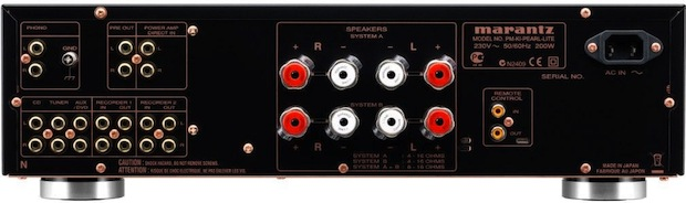 Marantz PM-KI Pearl Lite Stereo Integrated Amplifier - Back