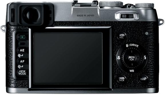 FujiFilm FinePix X100 Digital Camera - Back