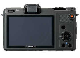 Olympus Flagship Digital Camera with Built-in Zuiko Lens - Back