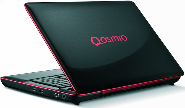 Toshiba Qosmio X500 Series Laptop - Back