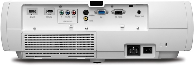 Epson PowerLite Home Cinema 8700 UB 3LCD Projector - Back