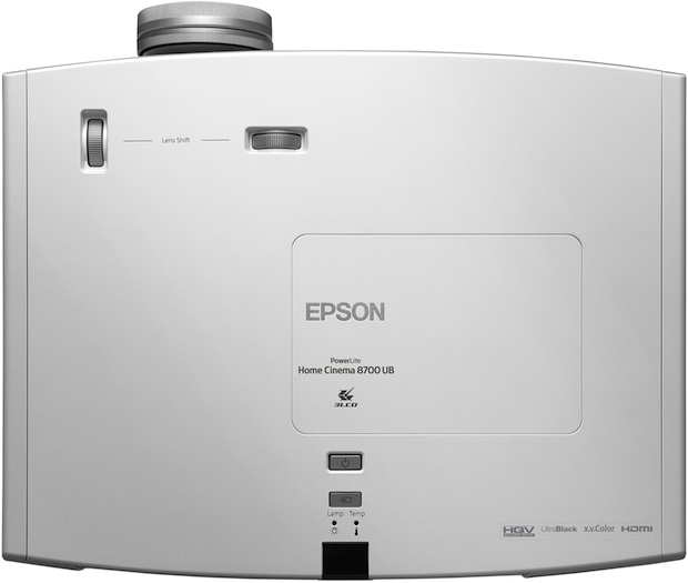 Epson PowerLite Home Cinema 8700 UB 3LCD Projector - Top
