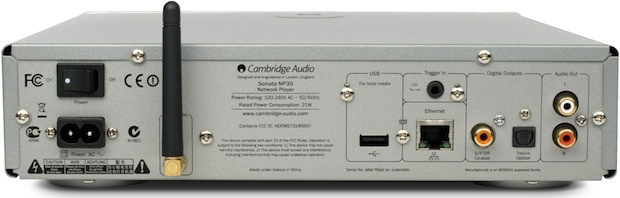 Cambridge Audio Sonata NP30 Network Music Player - Back