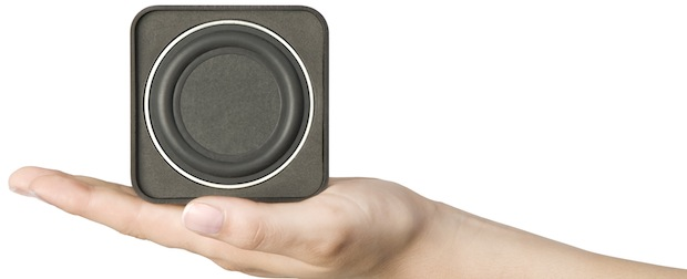 Cambridge Audio Min10 Mini Speaker in hand