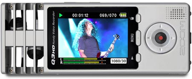 Zoom Q3HD Handy Video Recorder - side