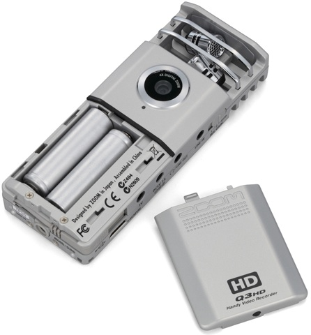 Zoom Q3HD Handy Video Recorder - back
