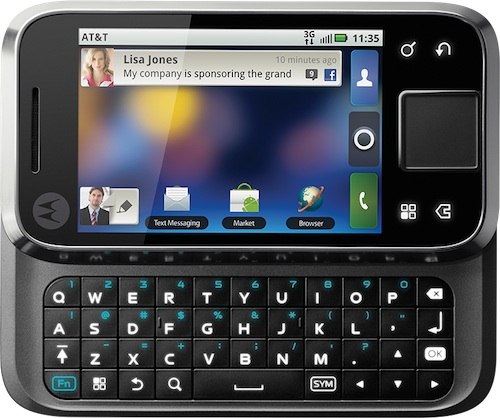 Motorolal FLIPSIDE Smartphone - Open