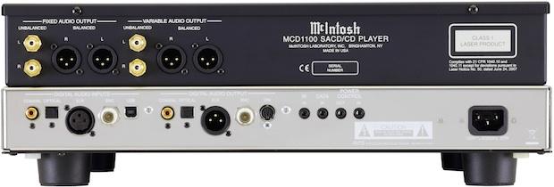 McIntosh MCD1100 SACD/CD Player - Back